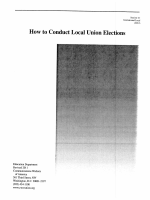 How to Conduct Local Union Elections - CWA - Communications