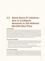 3.2 Stand-Alone PV Solutions| How to Contribute Massively to SSA