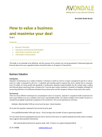How to value a business and maximise your deal