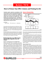 How to Protect Your HPLC Column and Prolong Its - Sigma-Aldrich