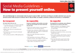 Social Media Guidelines – How to present yourself online. - NAB