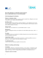 The SAIL-dictionary of education and assessment - how to