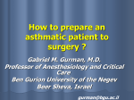 How to prepare an asthmatic patient to surgery ? - atimures.ro