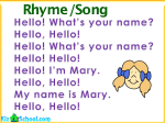 Song - What's your name
