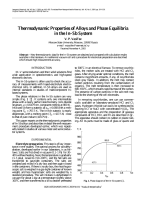 Thermodynamic properties and  In-Sb phase diaagram