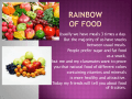 Rainbow of food