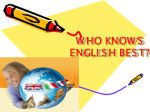who knows english best