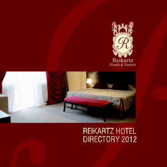 Reikartz Hotel & Resorts каталог 2012