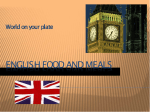 ENGLISH FOOD AND MEALS