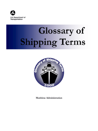 SHIPPING TERMS Glossary-Marine