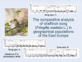 The comparative analysis of chaffinch song  in geographical populations of the East Europe