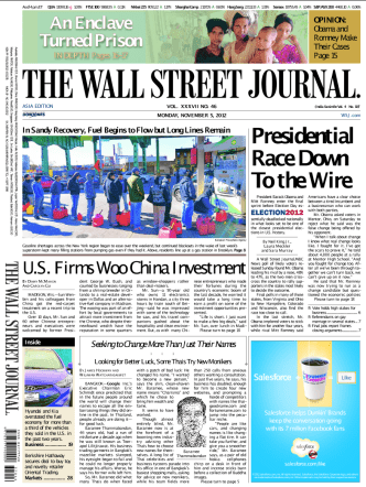 The Wall Street Journal - 5 November 2012 (Asia)
