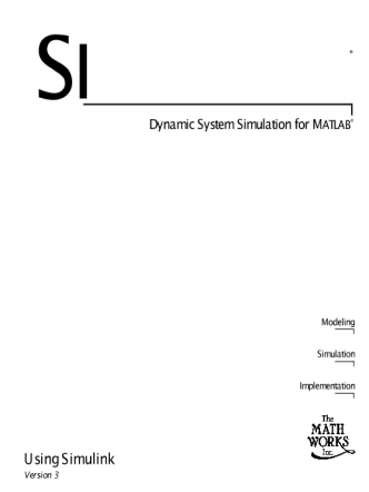 Simulink. Dynamic System Simulation For Matlab.