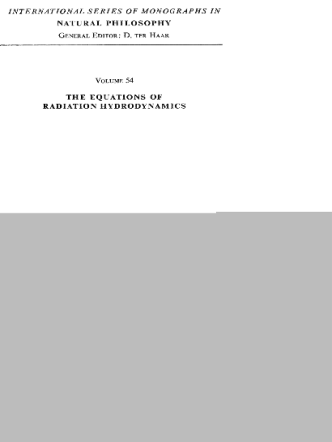 Pomraning G. Equations Of Radiation Hydrodynamics (Pergamon,1973)