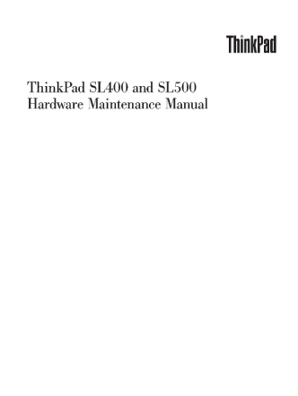 service-manual-IBM-ThinkPad-SL400-SL500