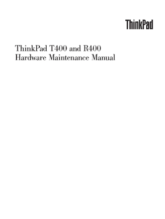 service-manual-IBM-ThinkPad-T400-R400
