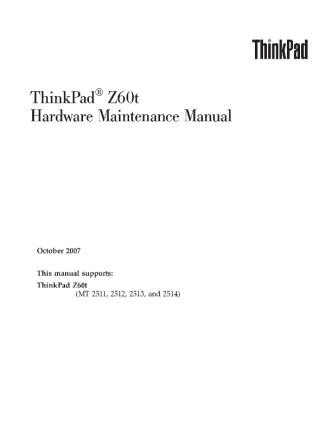 service-manual-IBM-ThinkPad-Z60t