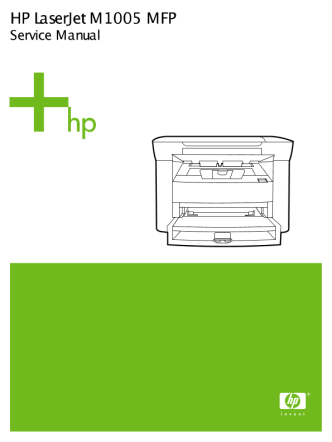 Service Manual - HP LaserJet  M1005 mfp