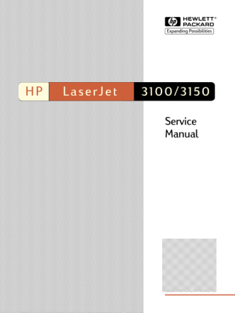 Hewlett Packard LaserJet 3100, 3150 Service Manual