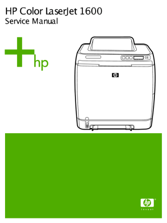 HP Color LaserJet 1600 Series Printer Service Manual
