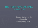 THE MOST POPULAR CARS  IN THE USA