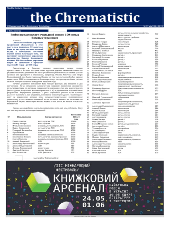 №32 WDe-M «the Chrematistic» от 28.04.2013