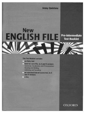 New English File Test Booklet (pre-int)