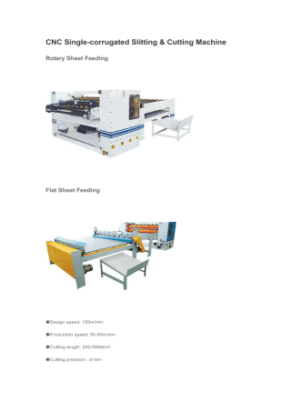 CNC Single-corrugated Slitting & Cutting Machine