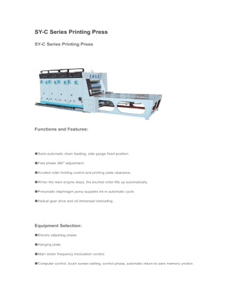 SY-C Series Printing Press