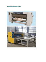Rotary rolling die cutter