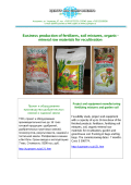 Plant for the production of fertilizers, garden soil and soil mixtures