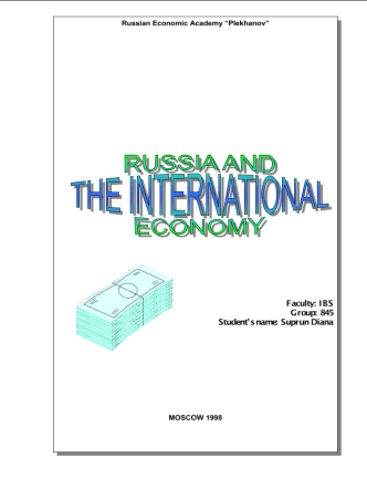 Russia and the international economy