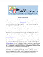 Resume Professionals