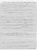 Questions from Iwakuni Sogo High 1st Grade Students