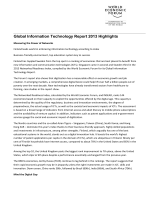 WEF GITR Report Highlights 2013