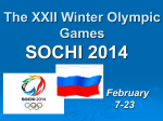 The XXII Winter Olympic Games