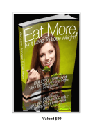 Eat more not less to lose weight