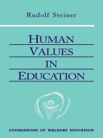 Human values in education - Rudolf Steiner