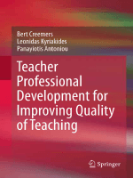 Teacher professional development for improving quality of teaching