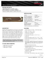 Spec Sheet PDF - Kingston