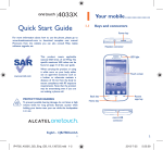 Quick Start Guide - Alcatel One Touch