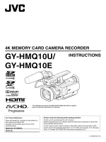 72 page operation manual for the GY-HMQ10U 4K Camcorder - JVC