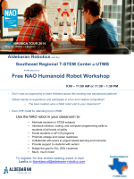 Free NAO Humanoid Robot Workshop - Aldebaran Tour