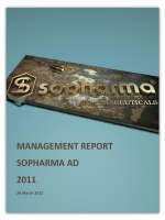MANAGEMENT REPORT SOPHARMA AD 2011 - eXtri