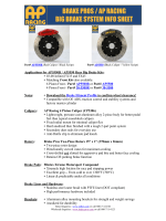 Applications for AP5550R / AP5550 Rear Big Brake Kits  - Stillen