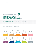Ideas Lab Agenda - The Centre for European Policy Studies