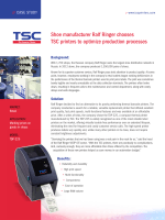Shoe manufacturer Ralf Ringer chooses TSC printers to optimize