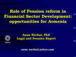 Role of Pension Reform in Financial Sector Development - AIPRG
