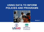 Using Data to Inform Policies and Programs - Carolina Population