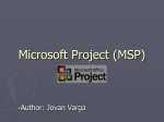 Microsoft Project (MSP).ppt